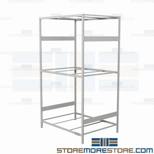 Alternative Views  sc 1 st  StoreMoreStore & Industrial Metal Storage Shelving 48x36x75 Rousseau SRD5007 3 Levels ...