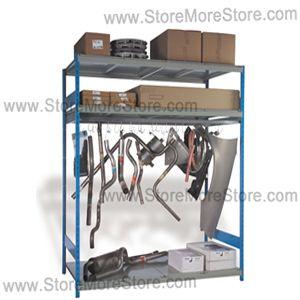 Alternative Views  sc 1 st  StoreMoreStore & Large Automotive Parts Storage Rack SRP0404 | Specialty Car Shelving ...