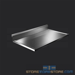 "42"" Stainless Steel Countertop with Stainless Steel Hat Channels - Box Marine Edge, #SMS-84-CTC3042-BM"