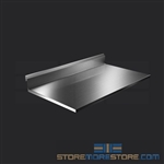 "42"" Stainless Steel Countertop with Stainless Steel Hat Channels - Square Edge, #SMS-84-CTC3042-SQ"