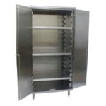 "24"" x 48"" Flat Top, Vertical Storage Unit, with Three Shelves. 485 Lbs. Weight Capacity Per Shelf, #SMS-84-VSC2448-3"