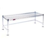 "14"" x 60"" Chrome Finish, Wire Gowning Bench, #SMS-84-W1460-GBC"