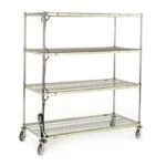 "28"" x 64"" Chrome Finish, Burn-In Cart, #SMS-85-BIC"