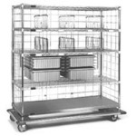 "21"" x 60"" x 72"" Exchange Carts - Eces Series, 4 Tote Boxes, 6 Shelf Dividers and 2 Super Slide, #SMS-86-ECES2160C"