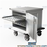 Stainless Case Carts Labor Delivery Hospital Closed Carts Door OR Eagle ELCSC-1