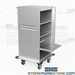 Surgical Instrument Storage Carts Stainless Transport OR Medical Eagle ELCSC-3
