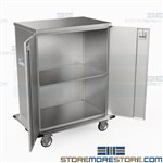 Sterile Instrument Case Carts Stainless Closed Transport Carts Eagle ELCSC-4