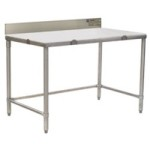 "30"" x 120"" Cutting Table with 4-1/2"" Backsplash, #SMS-88-CT30120S-BS"