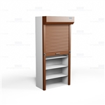 locking file shelves with doors