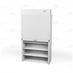 large rolling shelf doors