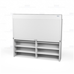 file shelving locking doors