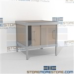 Maximize your workspace with mail adjustable consoles durable design with a structural frame and comes in wide selection of finishes built from the highest quality materials In line workstations Let StoreMoreStore help you design your perfect mailroom