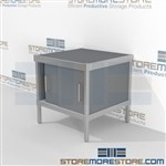 Mobile mail consoles are a perfect solution for outgoing mail center built for endurance and variety of handles available built from the highest quality materials In Line Workstations Let StoreMoreStore help you design your perfect mail sorting system