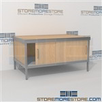 Sorting consoles with sliding doors are a perfect solution for corporate mail hub durable design with a strong frame with an innovative clean design aluminum frames eliminate exposed edges and protect laminate work surfaces In Line Workstations Hamilton