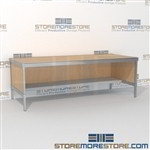 Mail services sort table distribution with half storage shelf is a perfect solution for interoffice mail stations built strong for a long durable work life and lots of accessories quality construction Extremely large number of configurations Hamilton