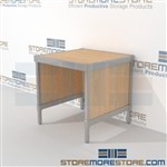 Mail sort table is a perfect solution for corporate mail hub durable design with a structural frame and comes in wide selection of finishes all consoles feature modesty panels located at the rear In line workstations Easily store sorting tubs underneath