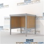 Maximize your workspace with mail room workbench all aluminum structural framework and is modern and stylish design skirts on 3 sides The flexibility of modular mail furniture means you can easily reconfigure and move Perfect for storing mail supplies