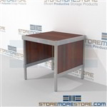 Mail center adjustable furniture is a perfect solution for mail & copy center durable design with a strong frame and comes in wide range of colors built from the highest quality materials In Line Workstations Perfect for storing mail machines and scales