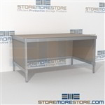Standard mail center desk is a perfect solution for interoffice mail stations and comes in wide selection of finishes wheels are available on all aluminum framed consoles In Line Workstations Perfect for storing literature like catalogs and brochures