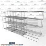 "Triple Deep High Density Wire Shelving high density food storage rolling zinc shelves SMS-94-LAT-1448-32-T overall size is 5917.4 inches wide x 12' 8"" deep x 152 inches high"