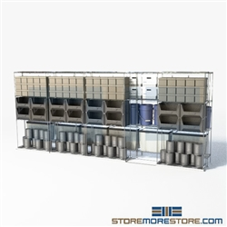 "Double Deep Moveable Wire Shelves Storage Shelves on tracks wire racks SMS-94-LAT-2136-54 overall size is 5588.2 inches wide x 16' 1"" deep x 193 inches high"