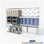 "2 Deep Sliding Wire Shelving zinc wire hospital shelving on wheels SMS-94-LAT-2448-21 overall size is 2264.6 inches wide x 8' 6"" deep x 102 inches high"