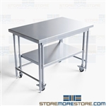 Commercial Nesting Worktables Stainless Steel Lab Kitchen Instrument NT-3048-36