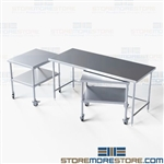 Set of Stainless Nesting Worktables Lab Instruments Tables NT-3072-60 Tarrison