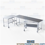 Stainless Nesting Lab Worktables Laboratory Instrument Tables NT-3096-72