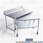 Stainless Tables Nesting Backsplash Commercial Kitchen Worktables NT4BS3048-36