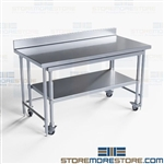 Stainless Nesting Prep Tables Backsplash Medical Hospital Lab NT4BS3060-48
