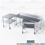 Nesting Tables Backsplash Stainless Steel Restaurant Kitchen Tarrison NT4BS3072-60