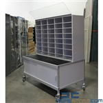 "Mail Table with Sorter & Display Board 60"" Wide x 37"" Deep x 82"" High, SMS-92-Mail-Clearance"