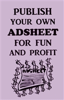 How to Publish your own Adsheet For fun & Profit Book
