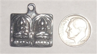 DOUBLE BUDDHA Ultimate Good Luck Charm pendant