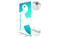 "Never Fall Retractable Banner Stand 24x80"" (Graphic Package)"