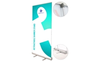 "Never Fall Retractable Banner Stand 33.5x80"" (stand only)"