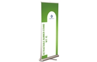"Double-sided Retractable Banner Stand, 33.5x80"" (stand only)"