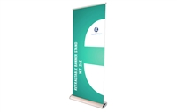 "Broadbase Retractable Banner Stand 33.5x80"" (Graphic Package)"
