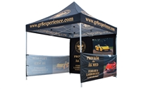 Buy Heavy duty steel tent with custom print for only $495.   Order today!