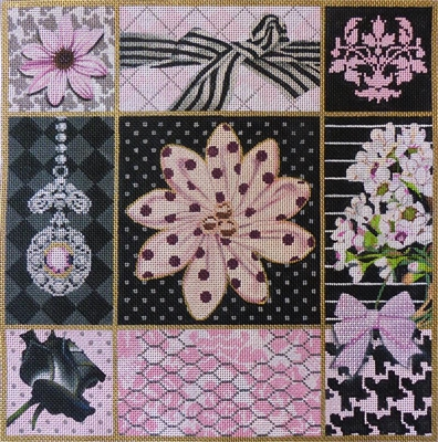 1047 Pink and Black Collage