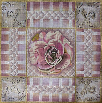 1060 Mauve & Pink Rose Collage