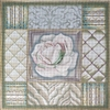 1061 White & Green Rose Collage