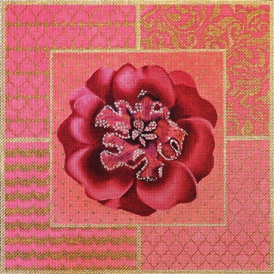 1067e Fuchsia Jeweled Flower Collage