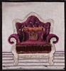 1072d Burgundy Velvet Chair