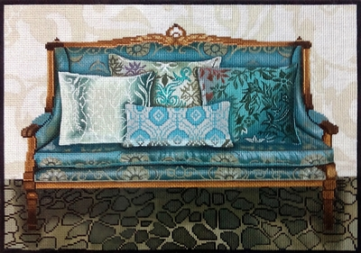 1075b Teal Couch