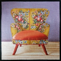 1076b Boho Orange Chair