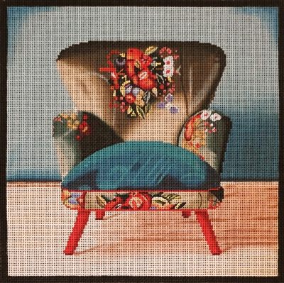 1076c Boho Teal Chair