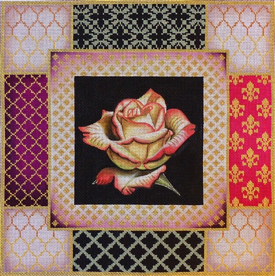 1089 Pink Rose Collage