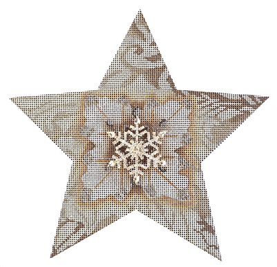 110b White Snowflake Star
